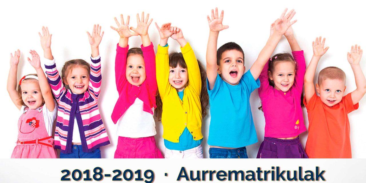 Aurrematrikula  2018-2019